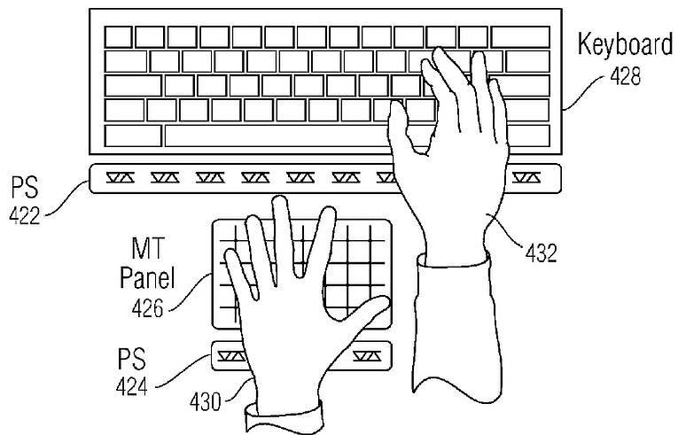 apple virtual buttons patent title